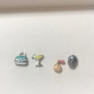 Set of 4 Origami Owl Charms
